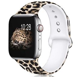 KOLEK Floral Bands Compatible with Apple Watch 38mm/42mm/40mm/44mm, Silicone Fadeless Pattern Pri... | Amazon (US)