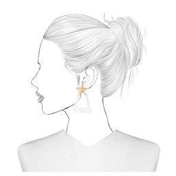 SUGARFIX by BaubleBar Star Studs Resin Hoop Earrings - White | Target