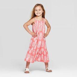 Toddler Girls' Pineapple Printed Maxi Dress - Cat & Jack™ Peach | Target