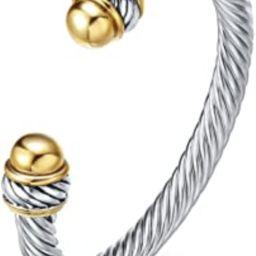 Fashion Jewelry Brand Cable Wire Retro Antique Bangle Elegant Beautiful Valentine | Amazon (US)