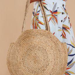 Take Me Around Natural Tan Round Bag | Red Dress