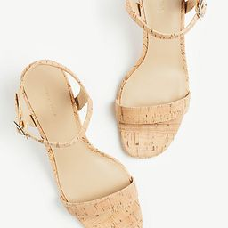 Kennedy Cork Heeled Sandals | Ann Taylor (US)