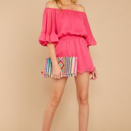A Little Diddy Neon Pink Romper | Red Dress