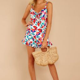 I Can Go Red Floral Print Romper   Red Dress