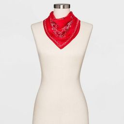 Women's Collection XIIX Americana Bandana Scarf - Red | Target