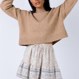 Mulley Mini Skirt Beige   Princess Polly