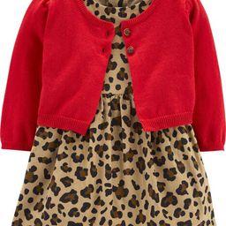 2-Piece Leopard Corduroy Dress & Cardigan Set | Carter's