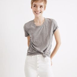 Triblend Knot-Front Tee   Madewell