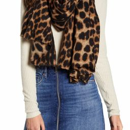 Leopard Print Blanket Scarf   Nordstrom