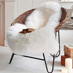 LOCHAS Deluxe Super Soft Fluffy Shaggy Home Decor Faux Sheepskin Silky Rug for Bedroom Floor Sofa... | Amazon (US)