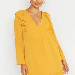 Ruffle Detail Smock Dress | Boohoo.com (US & CA)