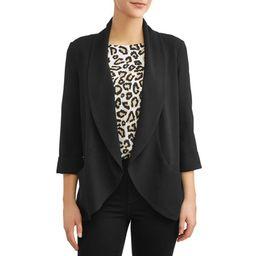 Women's Drape Front Blazer   Walmart (US)