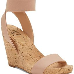 INC International Concepts I.N.C. Leanira Stretchy Ankle-Strap Wedge Sandals, Created for Macy's ... | Macys (US)
