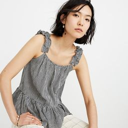 Ruffle-Strap Cami Top in Gingham | Madewell