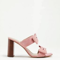 Janie Suede Bow Heeled Sandals | Ann Taylor (US)