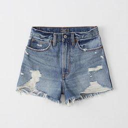 Ultra High Rise Denim Shorts   Abercrombie & Fitch US & UK