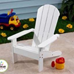 KidKraft Wooden Adirondack Children's Outdoor Chair, Weather-Resistant - White | Amazon (US)