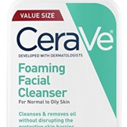 CeraVe Foaming Facial Cleanser | 16 Fl. Oz | Daily Face Wash for Oily Skin | Fragrance Free | Amazon (US)