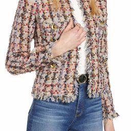 Raw Edge Cotton Blend Tweed Jacket | Nordstrom
