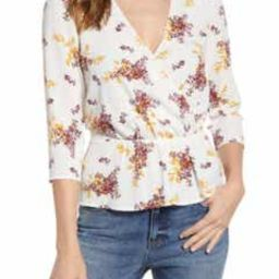 Wild Country Blooms Peplum Blouse   Nordstrom