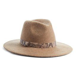 Snakeskin Trim Wool Panama Hat | Nordstrom