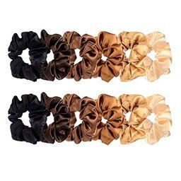 BBTO 12 Pieces Satin Hair Scrunchies Elastic Hair Bobbles Scrunchies Hair Ties for Kids Adults, 6...   Amazon (US)