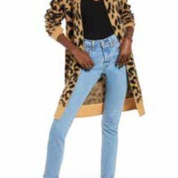 Long Leopard Jacquard Cardigan   Nordstrom