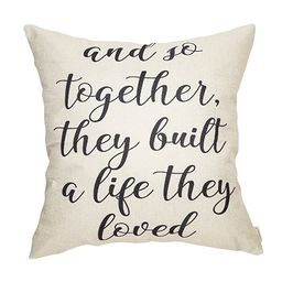 Fahrendom and So Together They Built a Life They Loved Farmhouse Décor Family Decoration Sign Co...   Amazon (US)