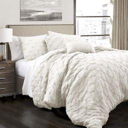 Lush Decor Ravello Shabby Chic Style Pintuck White 5 Piece Comforter Set with Pillow Shams Full/Q...   Amazon (US)