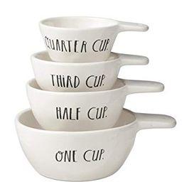 Rae Dunn Stem Print Stoneware Measuring Cups - Set of 4   Amazon (US)