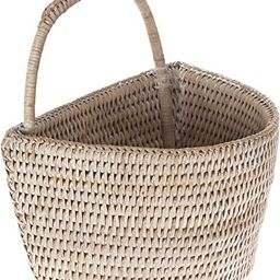 La Jolla Rattan Wall Basket, Small, White Wash   Amazon (US)