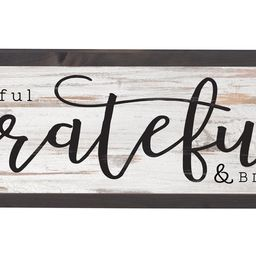 P. Graham Dunn Thankful Grateful Blessed Grey White 25 x 8 Inch Solid Pine Wood Farmhouse Frame W...   Amazon (US)