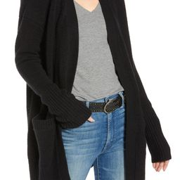 Throw-On Cotton & Wool Blend Cardigan   Nordstrom