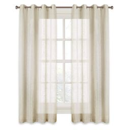 RYB HOME Linen Sheer Curtains for Bedroom, Privacy Semitransparent Voile Drapes Summer Refreshing...   Amazon (US)