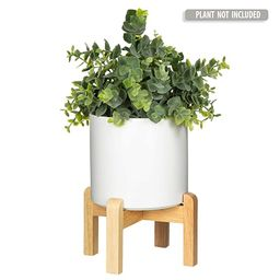 Mid Century Modern Plant Stand with 4.5 Inch Round Pot - The Northern Habitat Wood Table Top Plan...   Amazon (US)