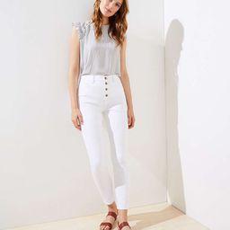 Modern High Waist Slim Pocket Skinny Jeans in White | LOFT