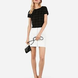 high waisted (minus the) leather zip mini skirt | Express