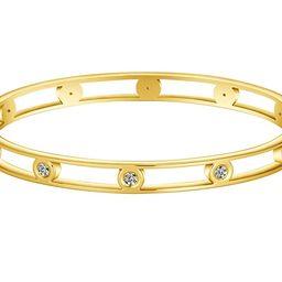 Allen&Danmi AD Jewelry Rose Gold/Gold/White Gold Bangle Bracelet Elegant CZ Stone Stanless Steel ...   Amazon (US)