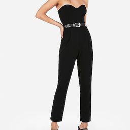 strapless sweetheart neck jumpsuit   Express