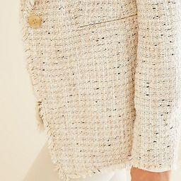 Fringe Tweed Shawl Collar Jacket | Ann Taylor (US)