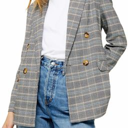 Double Breasted Plaid Blazer   Nordstrom