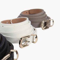 Skinny Belts 3 Pack   Boohoo.com (US & CA)