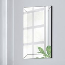 """16""""x24"""" Mirror Framed Beveled Wall Accent Mirror Silver - Gallery Solutions 