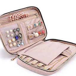 BAGSMART Travel Jewelry Storage Cases Jewelry Organizer Bag for Necklace, Earrings, Rings, Bracelet | Amazon (US)