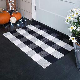100% Cotton Buffalo Plaid Rugs, Buffalo Check Rug, 23.6''x35.4'', Checkered Outdoor Rug, Outdoor ... | Amazon (US)