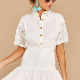 Future Boss Babe White Eyelet Dress | Red Dress