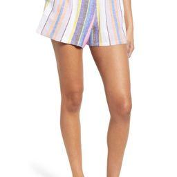 Stripe Linen Blend Shorts   Nordstrom