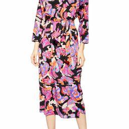 Belted V-Neck Long Sleeve Midi Dress | Nordstrom
