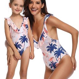 BBYES Mother Daughter Swimsuits Matching Family Mommy Girls Matching Swimwear | Amazon (US)