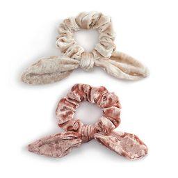 Women's Velvet Bow Scrunchies (2 Pack)   Kohl's